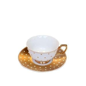 Teacup Kelly Gold Polka Dots  Image - Tchaba