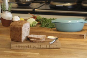 personalised engraved solid oak bread board