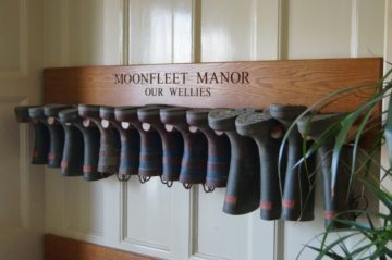Wooden Welly Boot Holders