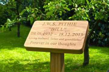 Engraved Wooden Grave Markers