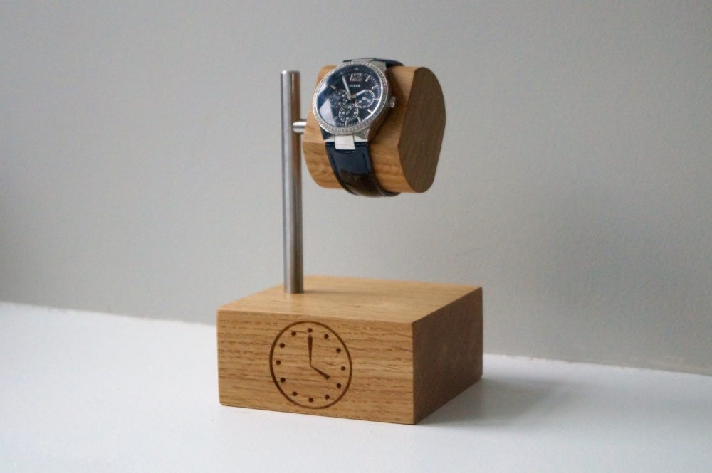 unique-christmas-gifts-for-christmas-2018-personalised-wooden-watch-stand