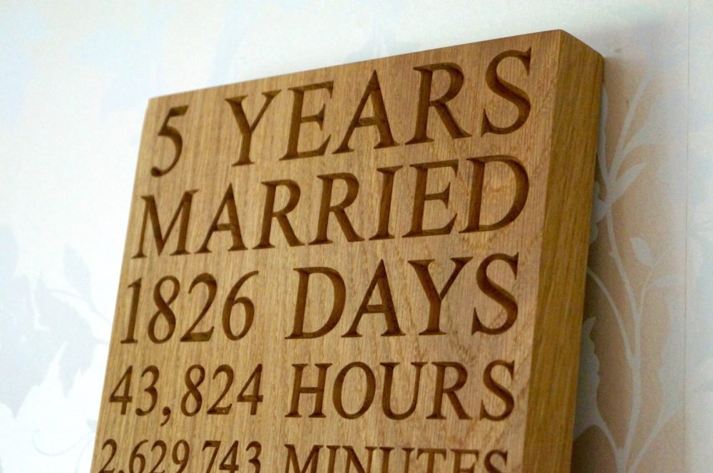 personalised-5th-wedding-anniversary-plaques-makemesomethingspecial.co.uk