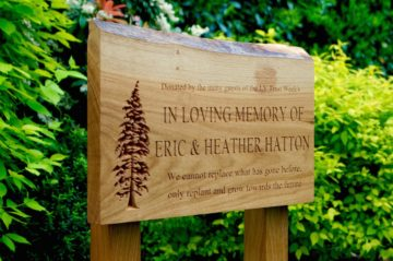 Wooden Memorial Plaques & Benches
