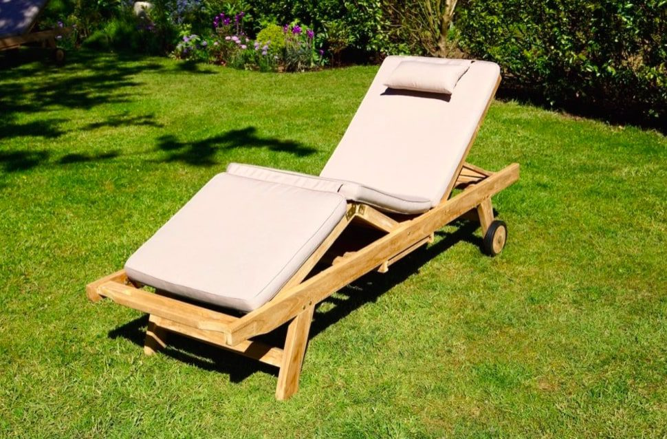 Deluxe Luxury Wooden Sun Loungers